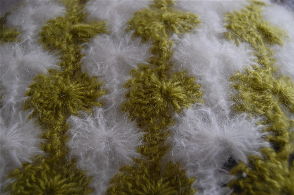 Catherine's Wheel pattern mohair scarf