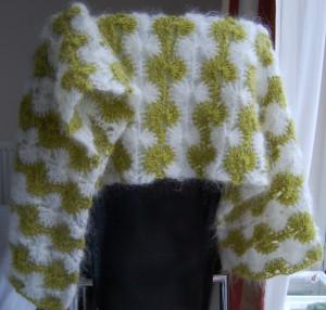 Catherine wheel pattern scarf